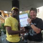 Mt Meru – ZTA guide Frankie presents Certificate to climber